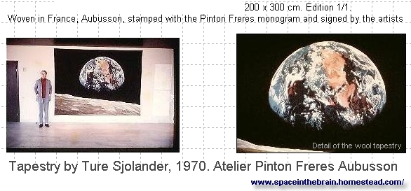 Space Tapestries Apollo 11, 1970 Pinton Freres Ateliere Aubusson France